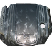 Painted Engine Cover - Silver Steel Metallic Fire