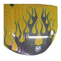 Painted Engine Cover - Top Banana (Yellow) Pattern Fire