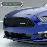Mustang GT Black Powder Coat Mesh Upper Class Main Grille - 2015
