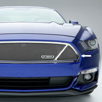 Mustang GT Polished Stainless Mesh Upper Class Main Grille-2015