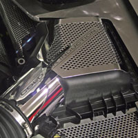 Mustang 5.0 Perforated/Polished Air Box Cover - 10-13