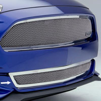 Mustang GT Polished Mesh Upper Class Bumper Grille - 2015