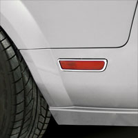 Mustang Chrome Quarter Light Trim - 05-09