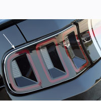 Mustang 2pc Taillight Chrome Vinyl Trim - 10-13