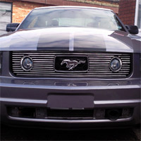 05-09 V6 Pony Package Billet Grille Upgrade - Polished Overlay