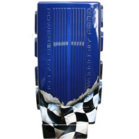 Mustang 2005-2012 Painted Plenum Cover (Checkered Flag)