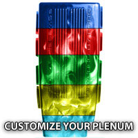 Custom Plenum Cover (Customize your Base and Flame Color)