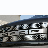 Ford Raptor 4pc 'FORD' Front Grille Letter Set - 10-13