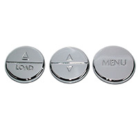 2005-2009 Chrome Radio Button Covers - Set of 3