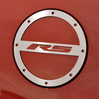 "Camaro ""RS"" Gas Door Cover Trim in Brushed or Polished - 10-12"