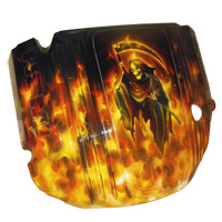 Painted Engine Cover - Real Fire w/Reaper