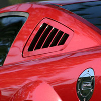 S.H.R. Mustang Flush-Mount Quarter Vent Louvers - 05+