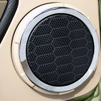 Chrome Plated Speaker Surrounds - Mustang 05+