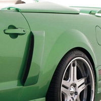 Street Scene Quarter Panel Side Scoops -05+ Mustang V6 & GT