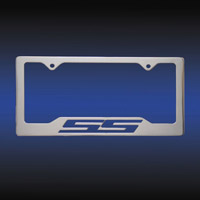SS Logo Billet Aluminum License Plate Frame - CHROME