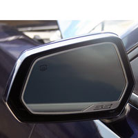 "Camaro Side View Mirror Trim ""SS"" Style 2Pc Brushed - 10-13"