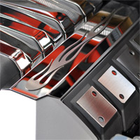 "2010+ Camaro Stainless ""True Flame"" Fuel Rail Covers"