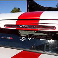"Viper 3rd Brake Light Trim with ""VIPER"" Script Polished - 92-02"