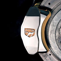 Viper 2pc Brake Caliper Covers w/ Viper Head Logo Rear - 00-01