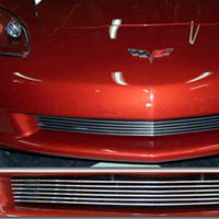 Corvette C6 Polished Aluminum Billet Grille