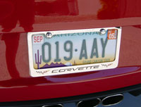 Corvette C6 License Plate Frame