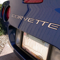 C5 Corvette Back Bumper Inserts: Silver, Black or Gold-1997-2004