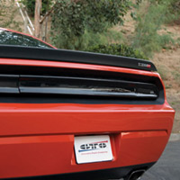 Challenger Smoke Rear Center Blackout Panel (solid)