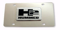 H2 Stainless Steel License Plate