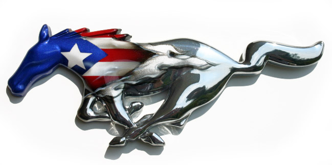 Mustang Chrome Painted Pony - Puerto Rico Flag