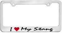 I Love My Stang License Plate Frame