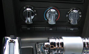 A/C Knob Covers - 2005 - 2009 Mustangs