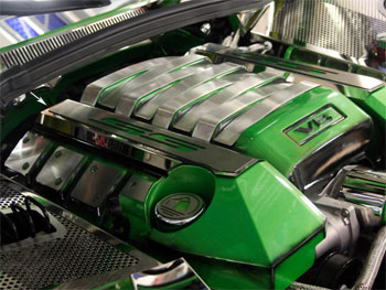 Camaro SS Fuel Rail Covers Polished Synergy Green - 10-13