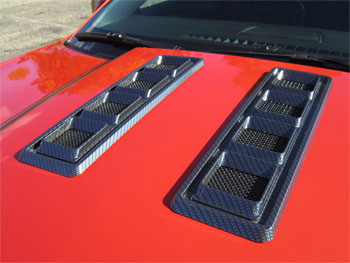 Camaro Hood Vents Carbon Fiber Finish - 10-14