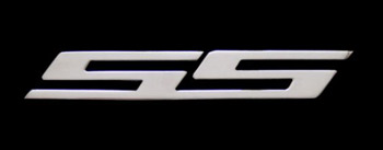 "6"" SS Logos Billet Aluminum - CHROME (Set of 2)"