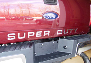 F-250, F-350 & F-450 Super Duty Tailgate Letter Insert Decals