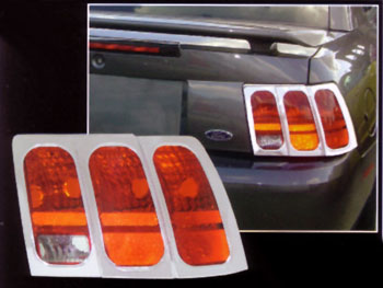 Mustang ABS Chrome Tail Light Bezels