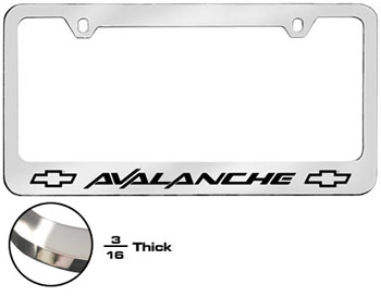 Avalanche License Plate Frame
