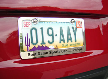 Best Damn Sports Car...Period License Plate Frame