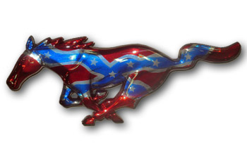 Mustang Painted Pony Rebel Flag On Chrome 94 15