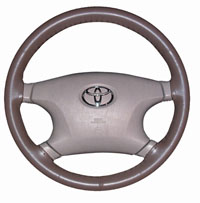 Original One Color Genuine Leather Steering Wheel Cover