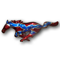 Mustang Painted Pony - Rebel Flag on Chrome - 94-15