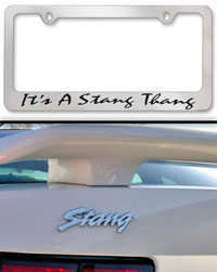 Mustang Stang Thang Package - 3 emblems 1 frame